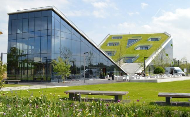 Hellende daktuin voor Corda Campus te Hasselt