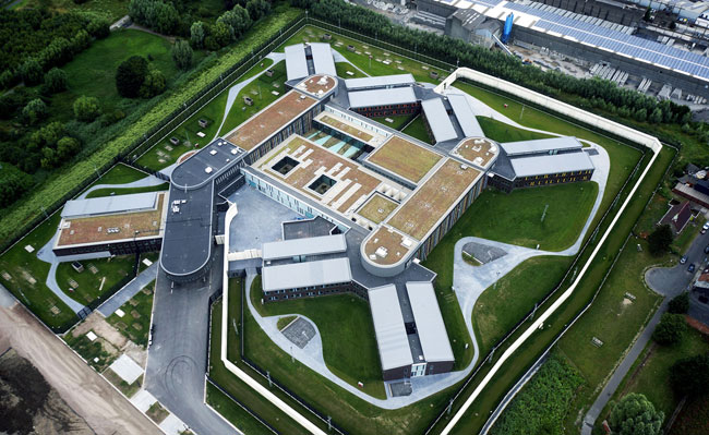 Greenroof -Forensic centre Ghent
